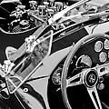 Ac Shelby Cobra Engine - Steering Wheel by Jill Reger