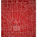 Adelaide Street Map - Adelaide Australia Road Map Art On Colored by Jurq Studio