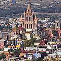 Aerial View Of San Miguel De Allende by Ellen Thane