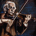 Albert Einstein And Violin by Daliana Pacuraru