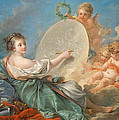 Allegory Of Painting by Francois Boucher