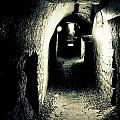 Altered Image Of A Tunnel In The Catacombs Of Paris France by Richard Rosenshein
