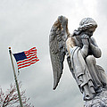 American Flag and Angel Fairview Cemetery Jasper Indiana 2008