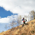 An Adult Male Trail Running by Andrew Maguire