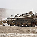 An Israel Defense Force Merkava Mark Iv by Ofer Zidon