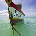 Anchored Colorful Fishing Boat Of Aruba II by David Letts