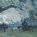 Arrival Of The Normandy Train by Claude Monet