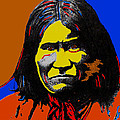 Art Homage Andy Warhol Geronimo 1887-2009 by David Lee Guss