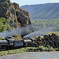 At Point Of Rocks-bound For Yellowstone by Paul Krapf