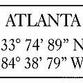 Atlanta Coordinates by Voros Edit
