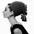Audrey Hepburn Wearing A Givenchy Hat by Cecil Beaton