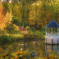 Autumn Gazebo by Joann Vitali