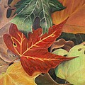 Autumn Leaves In Layers by Christy Saunders Church