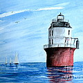 Baltimore Lighthouse  by Nancy Patterson