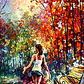 Barefooted Stroll by Leonid Afremov
