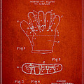 Baseball Glove Patent Drawing From 1922 by Aged Pixel
