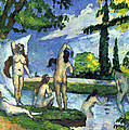 Bathers By Cezanne by John Peter