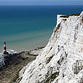 Beachy Head Cliffs And Lighthouse  by James Brunker