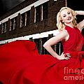 Beautiful Sexy Blond Girl Wearing A Long Dress by Jorgo Photography - Wall Art Gallery