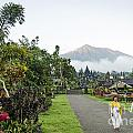 Besakih Temple And Mount Agung View In Bali Indonesia by Jacek Malipan