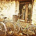 Bikes And A Window by Skip Nall