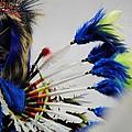 Blue Headdress by Paulina Roybal