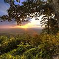 Blue Ridge Mountain Sunset by Debra and Dave Vanderlaan