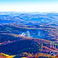 Blue Ridge Mountains by Les Palenik