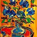 Blue Roses by Mark Kazav
