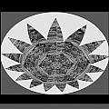 Bnw Black N White Star Ufo Art  Sprinkled Crystal Stone Graphic Decorations Navinjoshi  Rights Manag by Navin Joshi