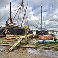 Boats On The Hard At Pin Mill by Gary Eason