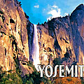 Bridal Veil Falls Yosemite National Park by Elaine Plesser