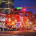 Broadway Street Nashville by Brian Jannsen