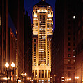 Buildings Lit Up At Night, Chicago by Panoramic Images