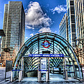Canary Wharf Station by David Pyatt
