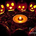 Carved Pumpkins With Pumpkin Pie by Jim Corwin