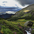 Cascade In Lower Ice Lake Basin by Alan Vance Ley