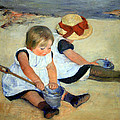 Cassatt's Children Playing On The Beach by Cora Wandel
