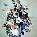 Cezanne's Flowers In A Rococo Vase by Cora Wandel