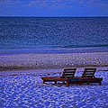 2 Chairs On A Blue Morning  by Michael Thomas