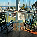2 Chairs On The Fairhope Yacht Club Porch by Michael Thomas