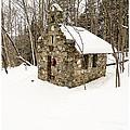 Chapel In The Woods Stowe Vermont by Edward Fielding