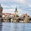 Charles Bridge In  Prague by Sarka Olehlova