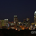 Charlotte City Skyline At Night by Kevin McCarthy