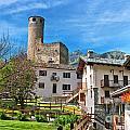 Chatelard Village With Castle by Antonio Scarpi