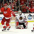 Chicago Blackhawks V Detroit Red Wings by Gregory Shamus