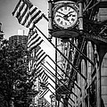 Chicago Macy's Clock in Black and White by Paul Velgos