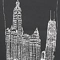 Chicago Wrigley And Hancock Buildings by Robert Birkenes