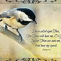 Chickadee With Verse by Debbie Portwood