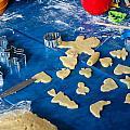 Children Baking Christmas Cookies by Frank Gaertner